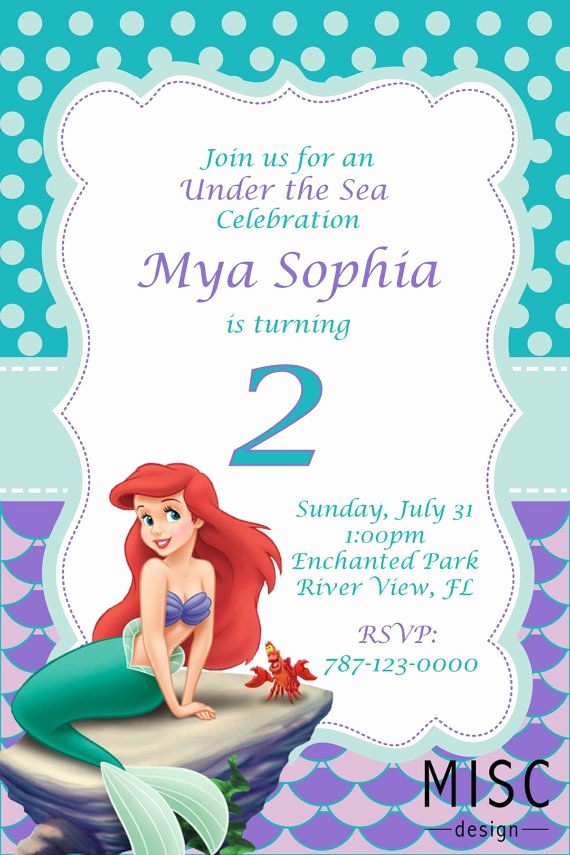 Free Little Mermaid Invitation Templates Inspirational 25 Best Ideas About Little Mermaid Invitations On