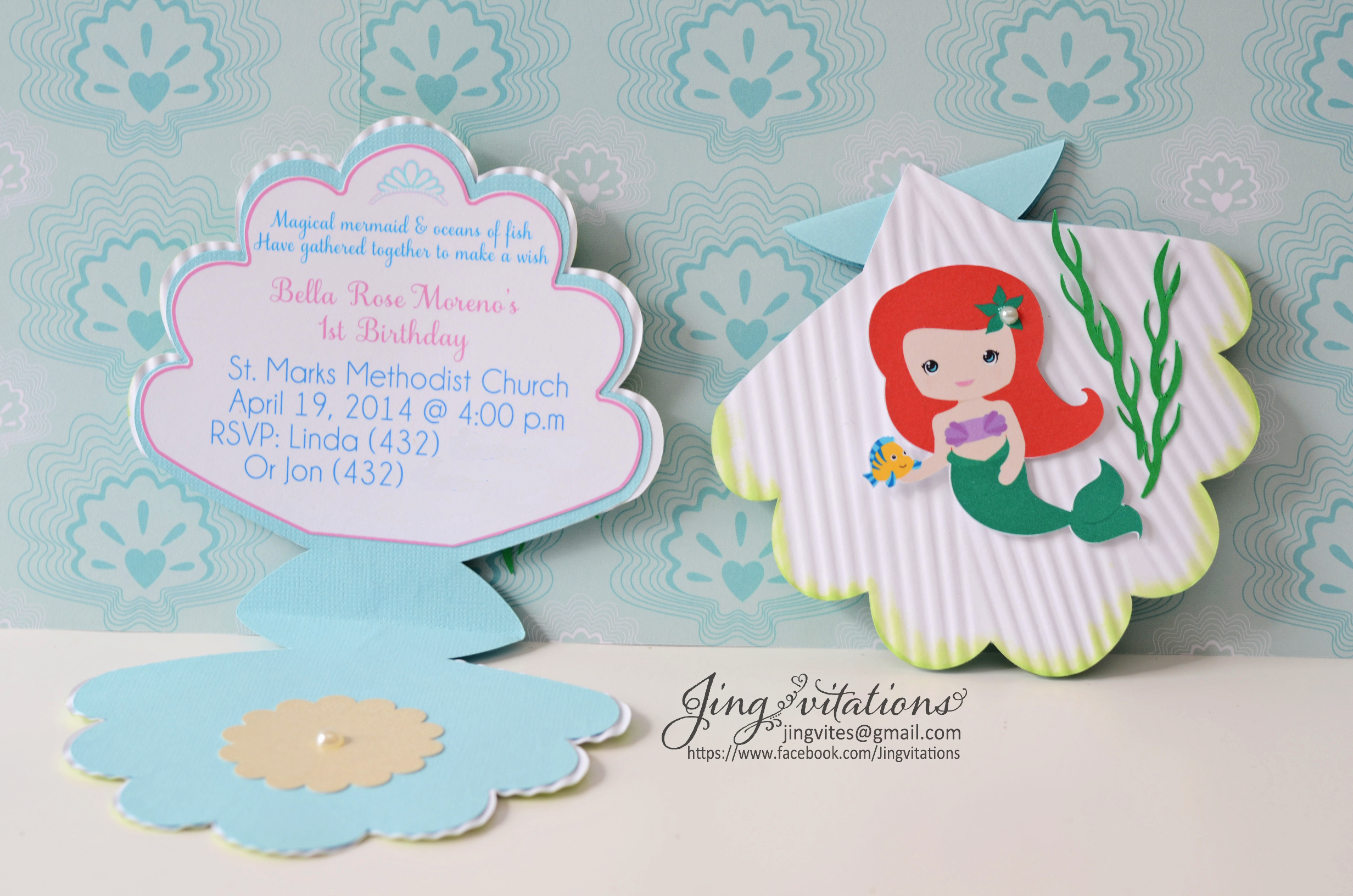 Free Little Mermaid Invitation Templates Inspirational Mermaid