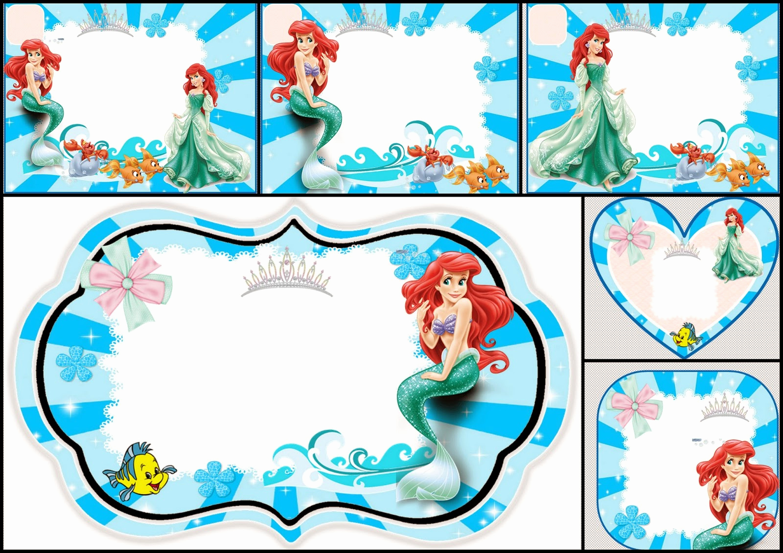 Free Little Mermaid Invitation Templates New the Little Mermaid Free Printable Invitations Cards or