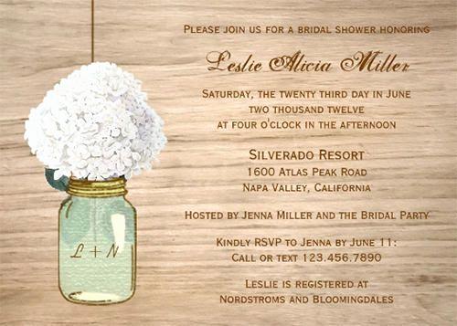 Free Mason Jar Invitation Template Awesome 25 Bridal Shower Invitations Templates