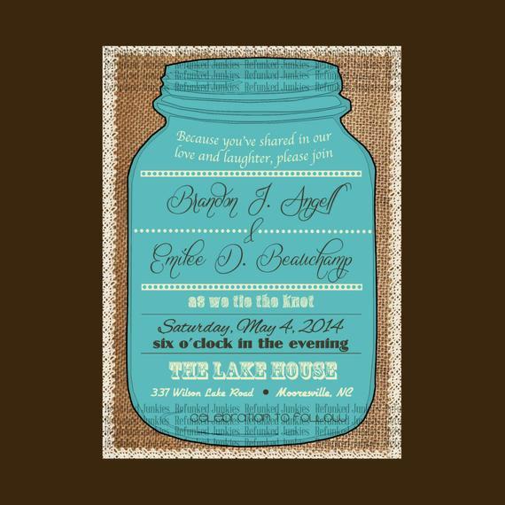 Free Mason Jar Invitation Template Inspirational Template Mason Jar Invitationburlap Backgroundlace
