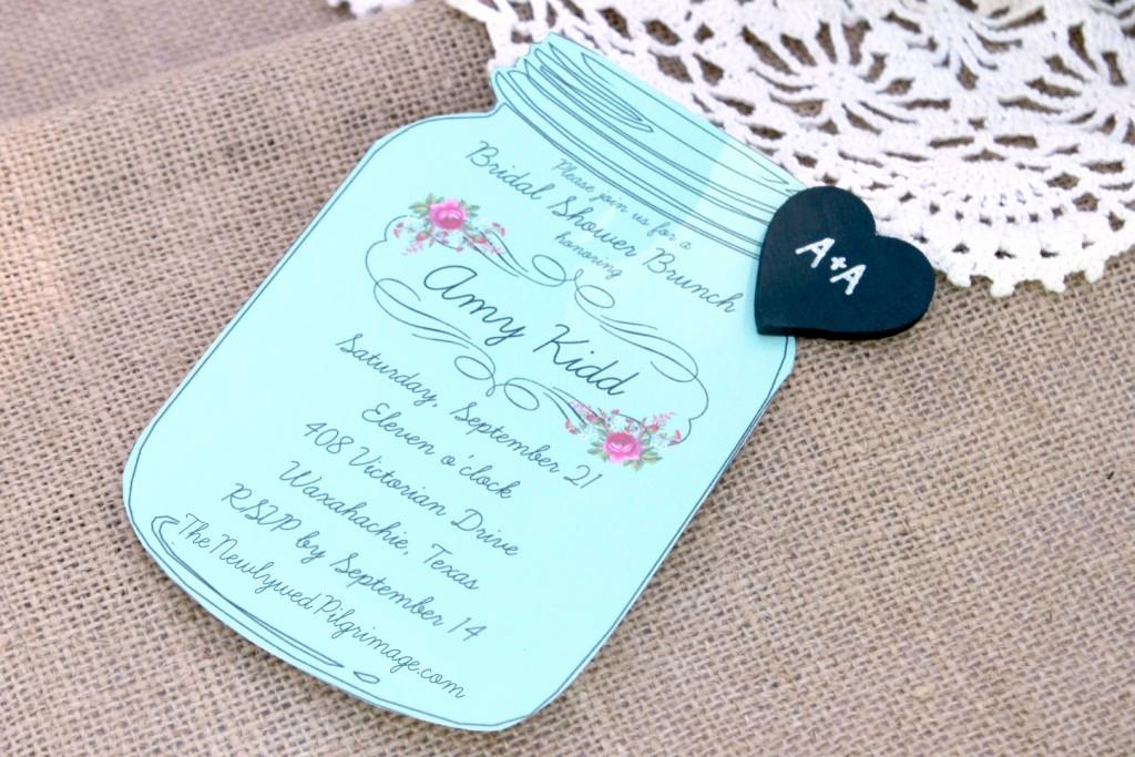 Free Mason Jar Invitation Template Lovely Mason Jar Invitations and Chalkboard Tags for Weddings or