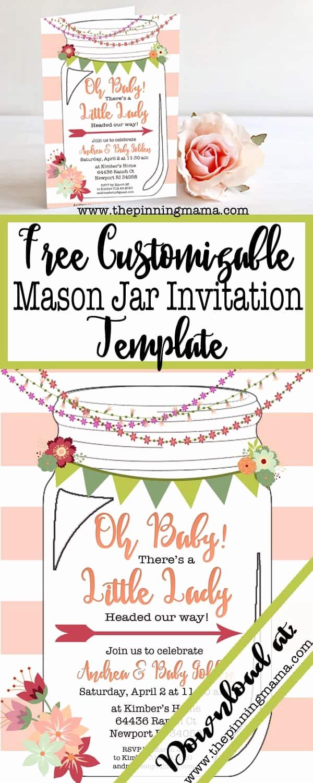 Free Mason Jar Invitation Template Luxury Free Printable Mason Jar Invitation