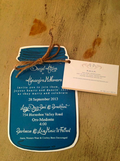 Free Mason Jar Invitation Template Unique the Wedding Invitations Used A Free Online Template for