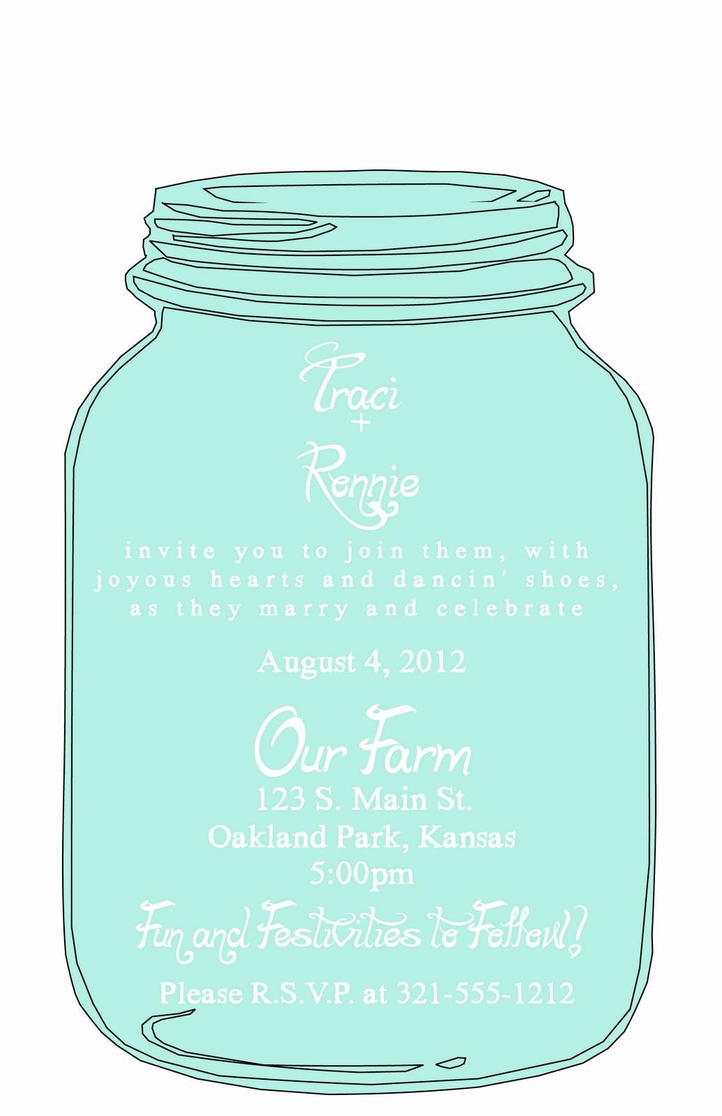 Free Mason Jar Invitation Templates Best Of Mason Jar Wedding Invitation Templates