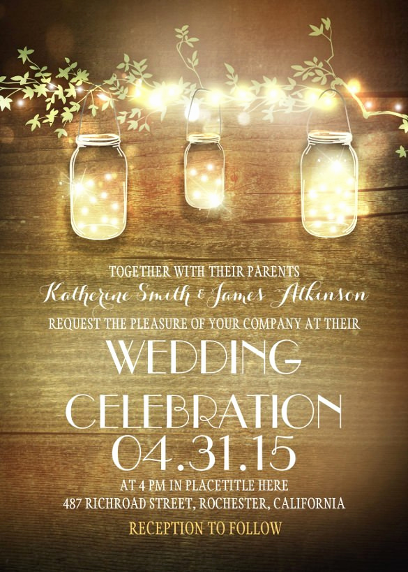 Free Mason Jar Invitation Templates Inspirational Country Wedding Invitation Templates