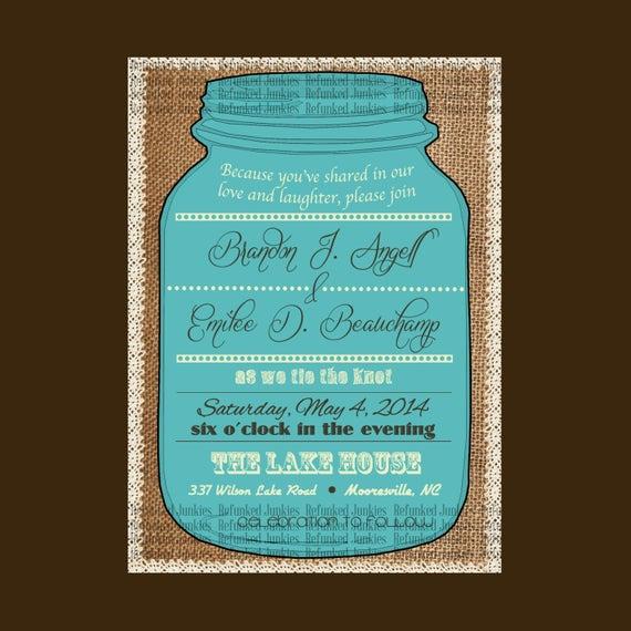 Free Mason Jar Invitation Templates New Template Mason Jar Invitationburlap Backgroundlace
