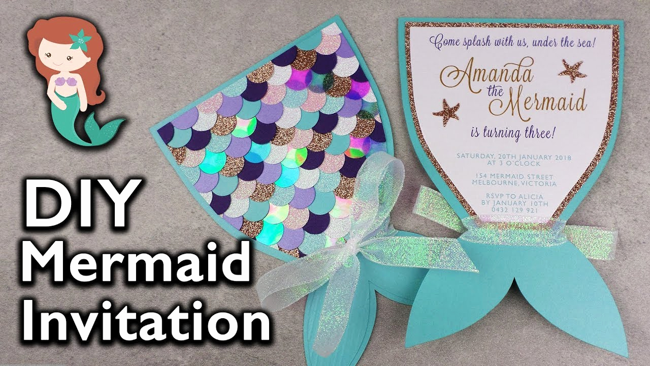 Free Mermaid Invitation Template Beautiful Amazing Diy Mermaid Tail Invitation