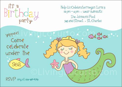 Free Mermaid Invitation Template Best Of Mermaid Birthday Party Printables