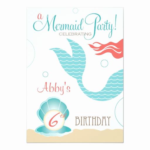 Free Mermaid Invitation Template Luxury Mermaid Party Birthday Invitations