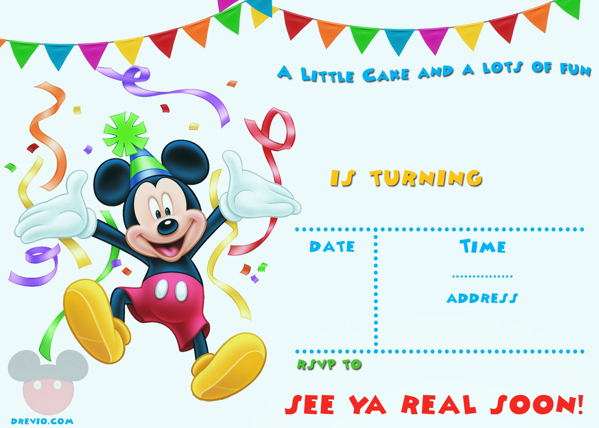 Free Mickey Mouse Invitation Template Awesome Free Printable Mickey Mouse Party Invitation