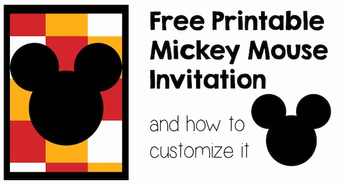 Free Mickey Mouse Invitation Template Beautiful Five Mickey Mouse Free Printables Paper Trail Design