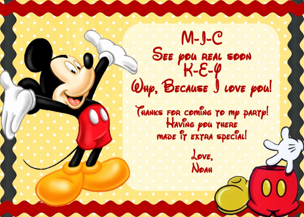 Free Mickey Mouse Invitation Template Elegant Mickey Mouse Invitations Template Free Picture Mickey