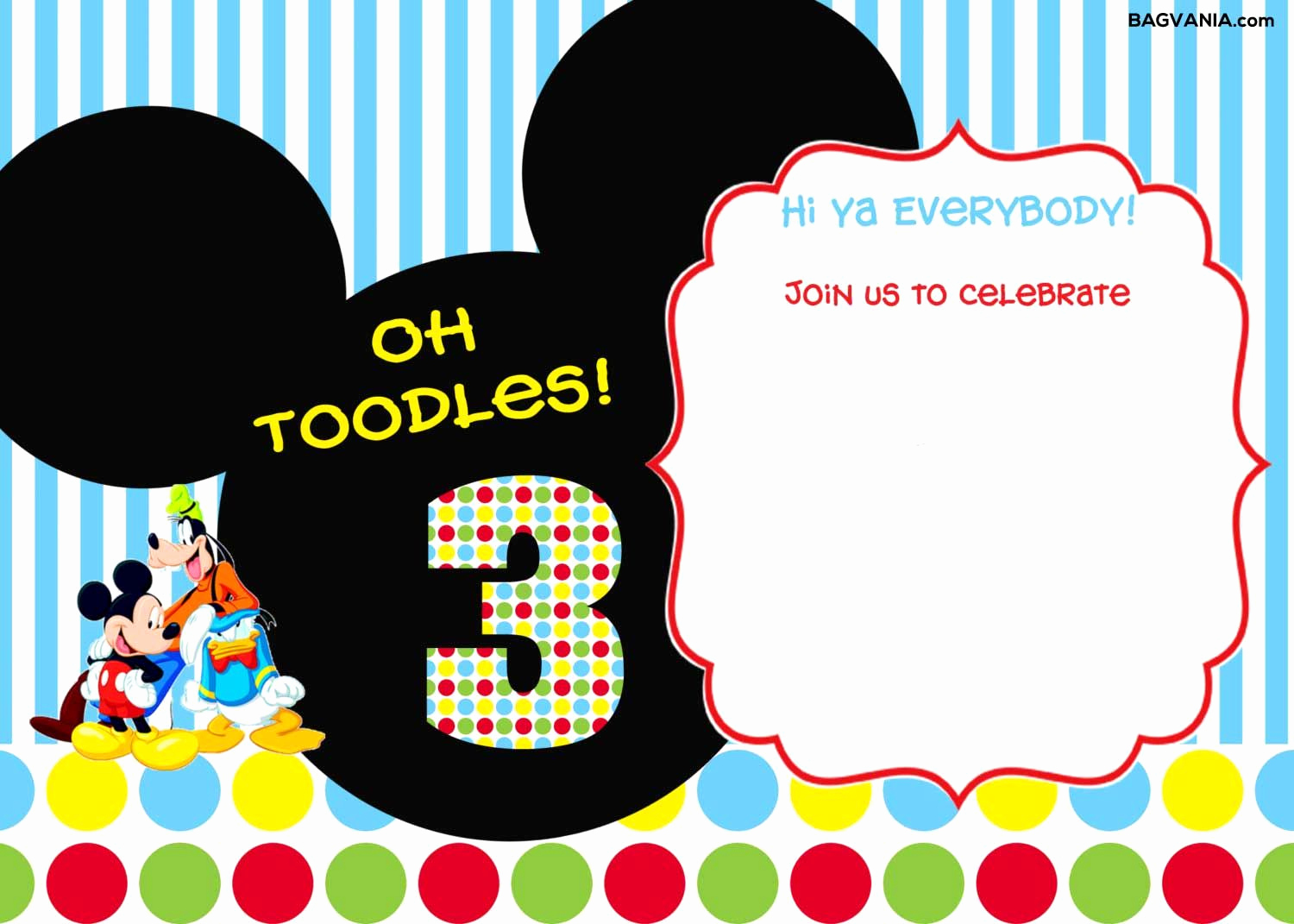 Free Mickey Mouse Invitation Template Fresh Download Free Printable Mickey Mouse Birthday Invitations