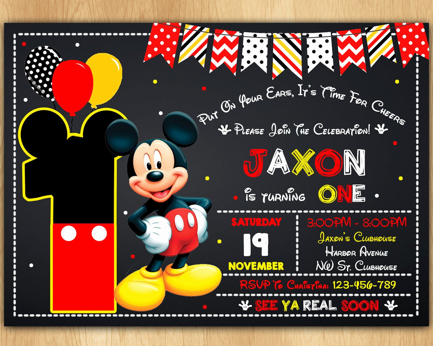 Free Mickey Mouse Invitation Template Lovely Mickey Mouse Invitation Mickey Mouse Invite Mickey Mouse