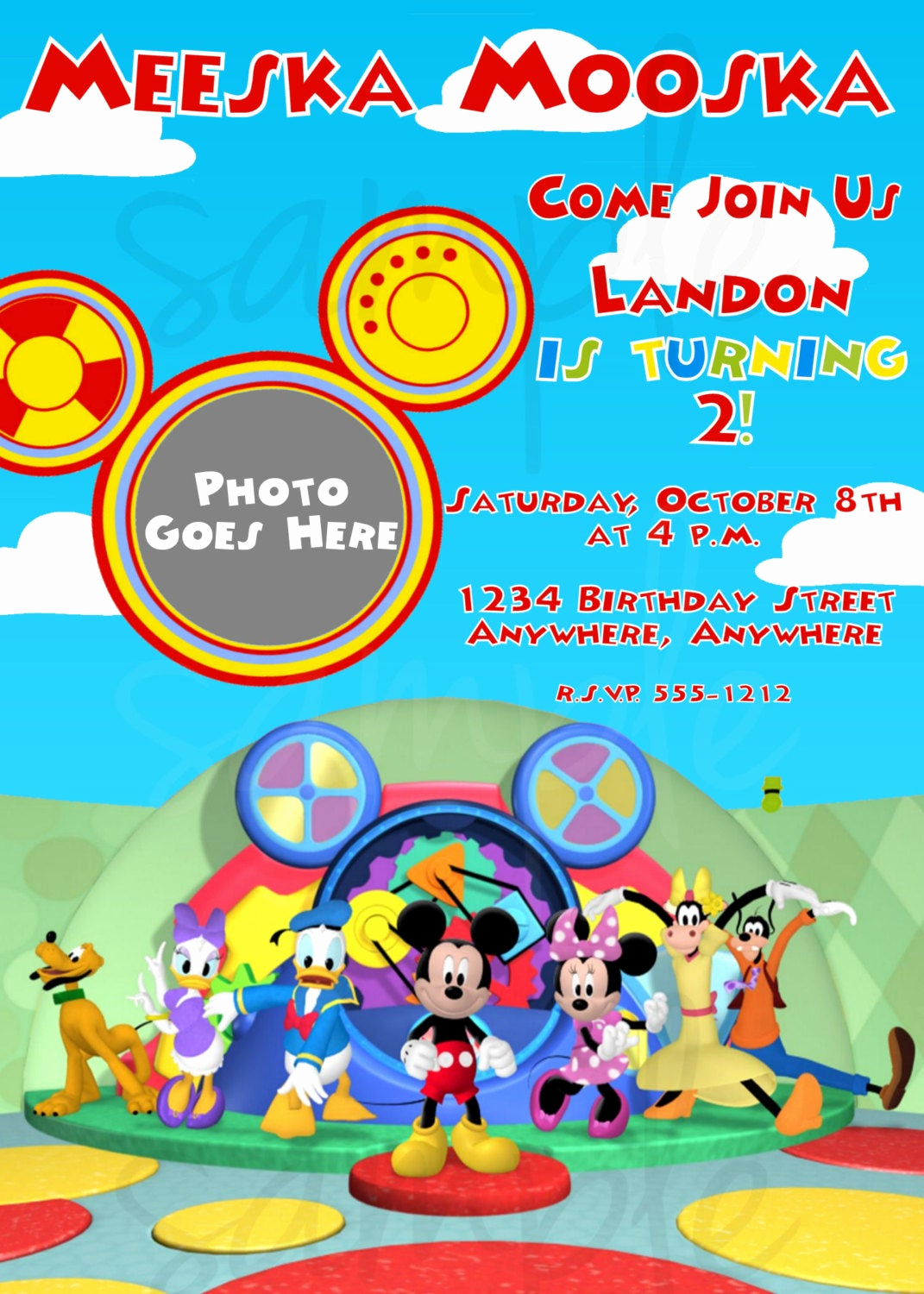 Free Mickey Mouse Invitation Template Luxury Mickey Mouse Clubhouse Birthday Invitation