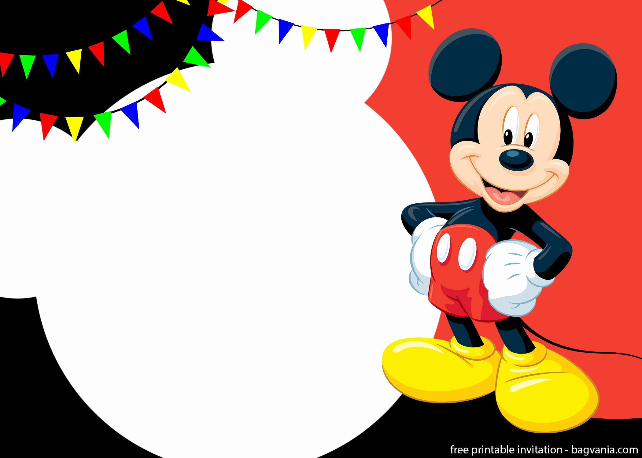 Free Mickey Mouse Invitation Template Unique Free Printable Cute Mickey Mouse Invitation Templates