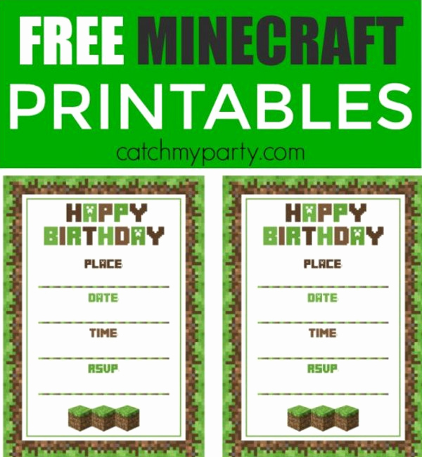Free Minecraft Invitation Printable Best Of 52 Birthday Invitation Templates Psd Ai