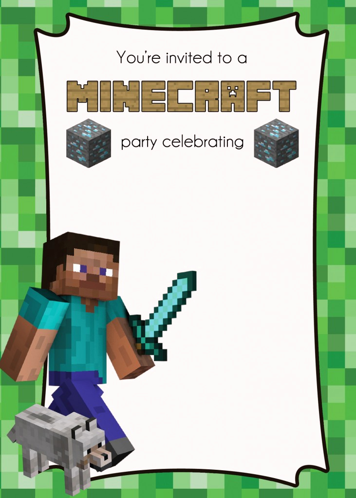 Free Minecraft Invitation Printable Best Of Party Feature