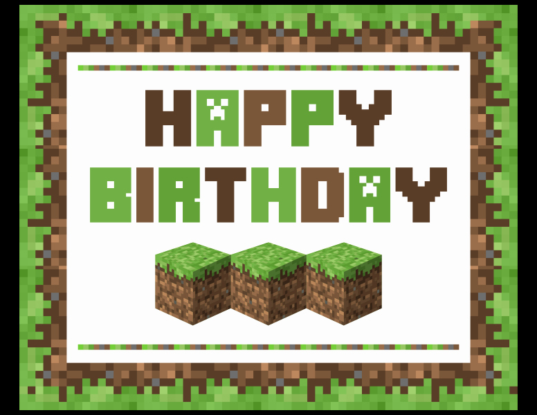 Free Minecraft Invitation Printable Elegant Download these Awesome Free Minecraft Printables