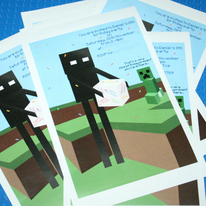 Free Minecraft Invitation Printable Elegant Minecraft Invitation