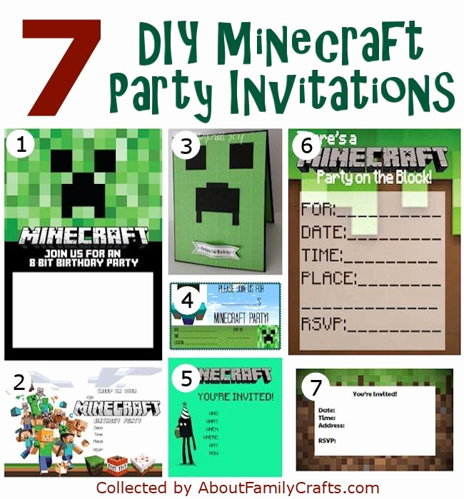 Free Minecraft Invitation Printable Fresh 50 Diy Minecraft Birthday Party Ideas – About Family Crafts