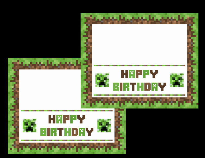 Free Minecraft Invitation Printable Inspirational Download these Awesome Free Minecraft Printables