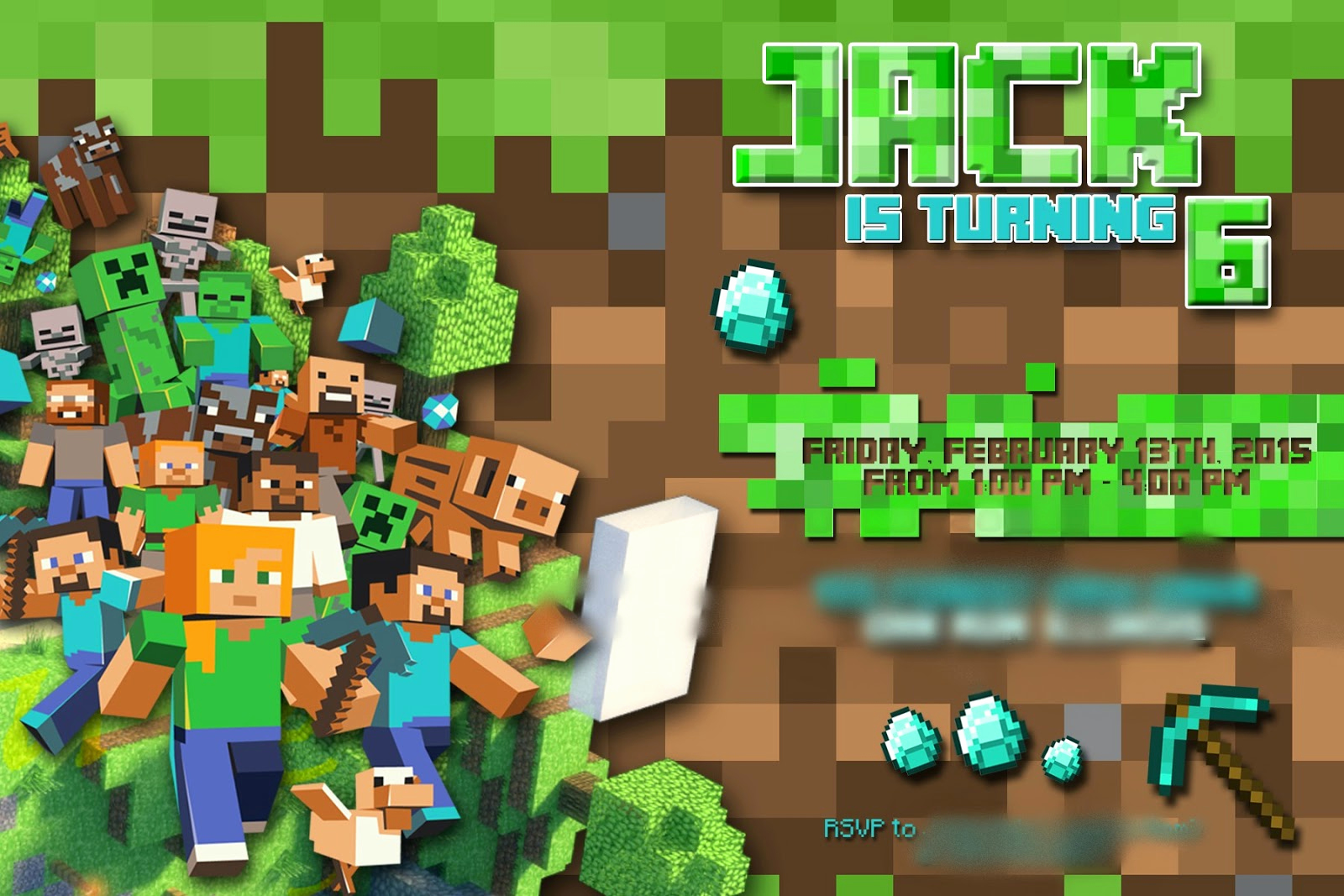 Free Minecraft Invitation Template Best Of the Real Housewife Of Tazewell County Minecraft Party