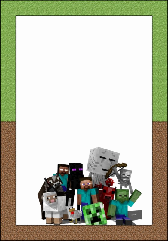 Free Minecraft Invitation Template Inspirational Party at Ease with Minecraft Invitations