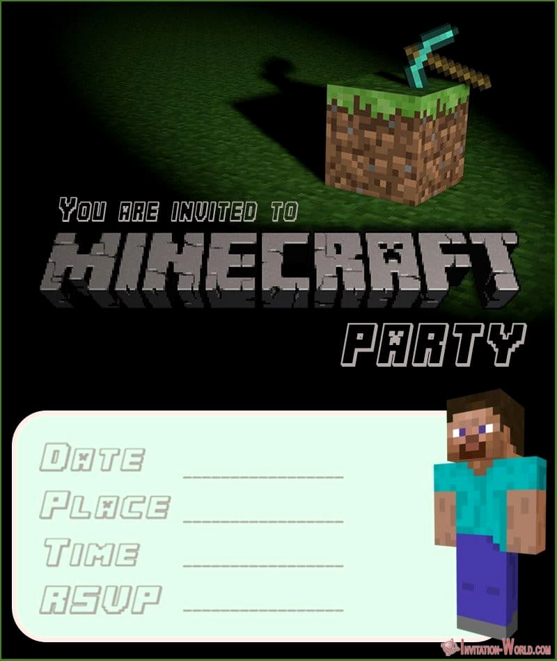 Free Minecraft Invitation Templates Awesome 12 Printable Minecraft Invitation Templates