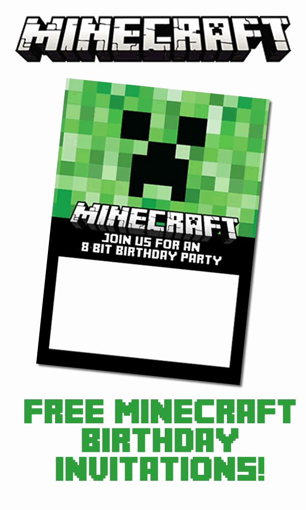 Free Minecraft Invitation Templates Inspirational 17 Best Ideas About Minecraft Invitations On Pinterest