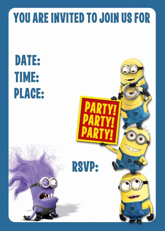 Free Minion Invitation Template Best Of Best 25 Minion Birthday Invitations Ideas On Pinterest