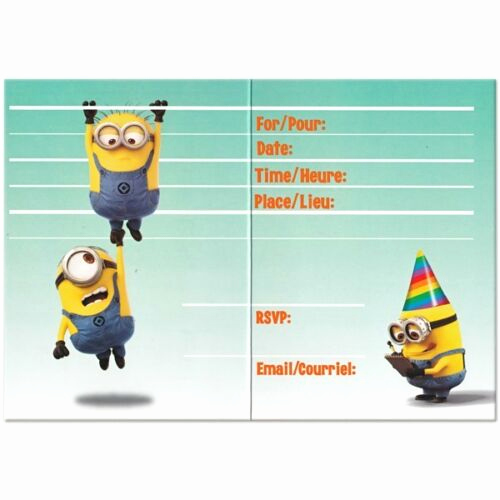 Free Minion Invitation Template Best Of Despicable Me 2 Minions Party Birthday Invitations with