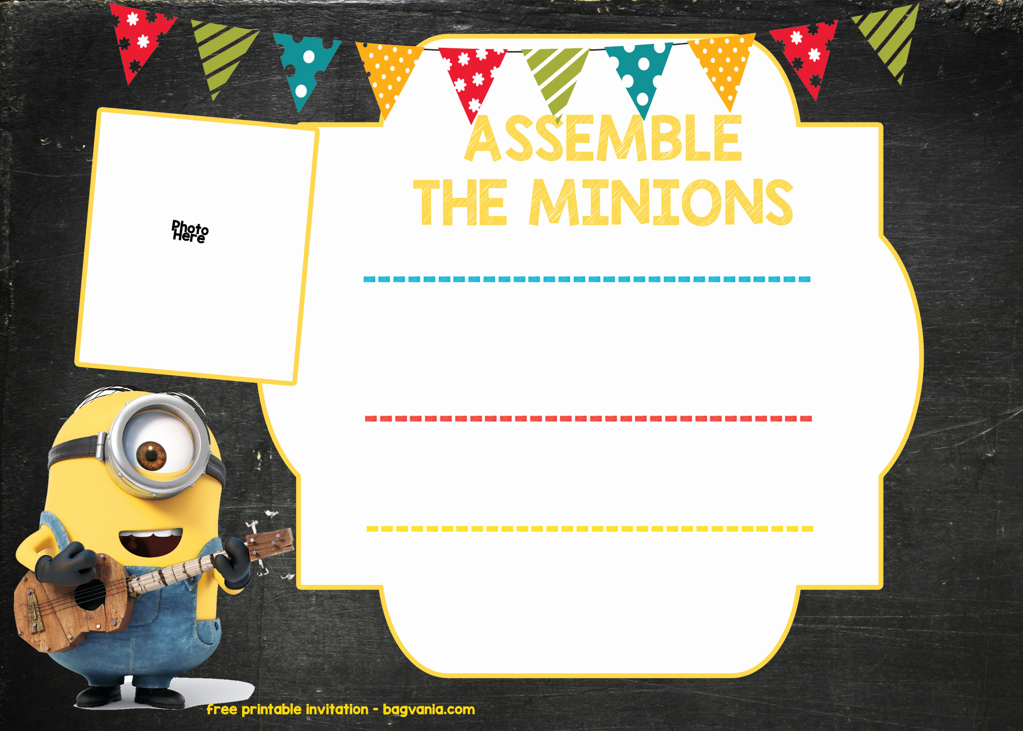 Free Minion Invitation Template Best Of Free Printable Minion Birthday Party Invitations Ideas