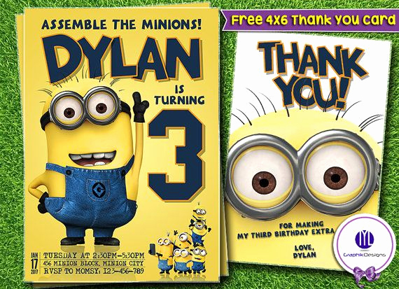 Free Minion Invitation Template Fresh Best 25 Minion Birthday Invitations Ideas On Pinterest