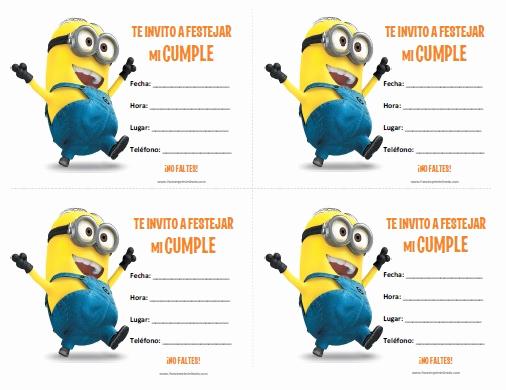 Free Minion Invitation Template Inspirational Invitaciones De Minions Para Imprimir Gratis