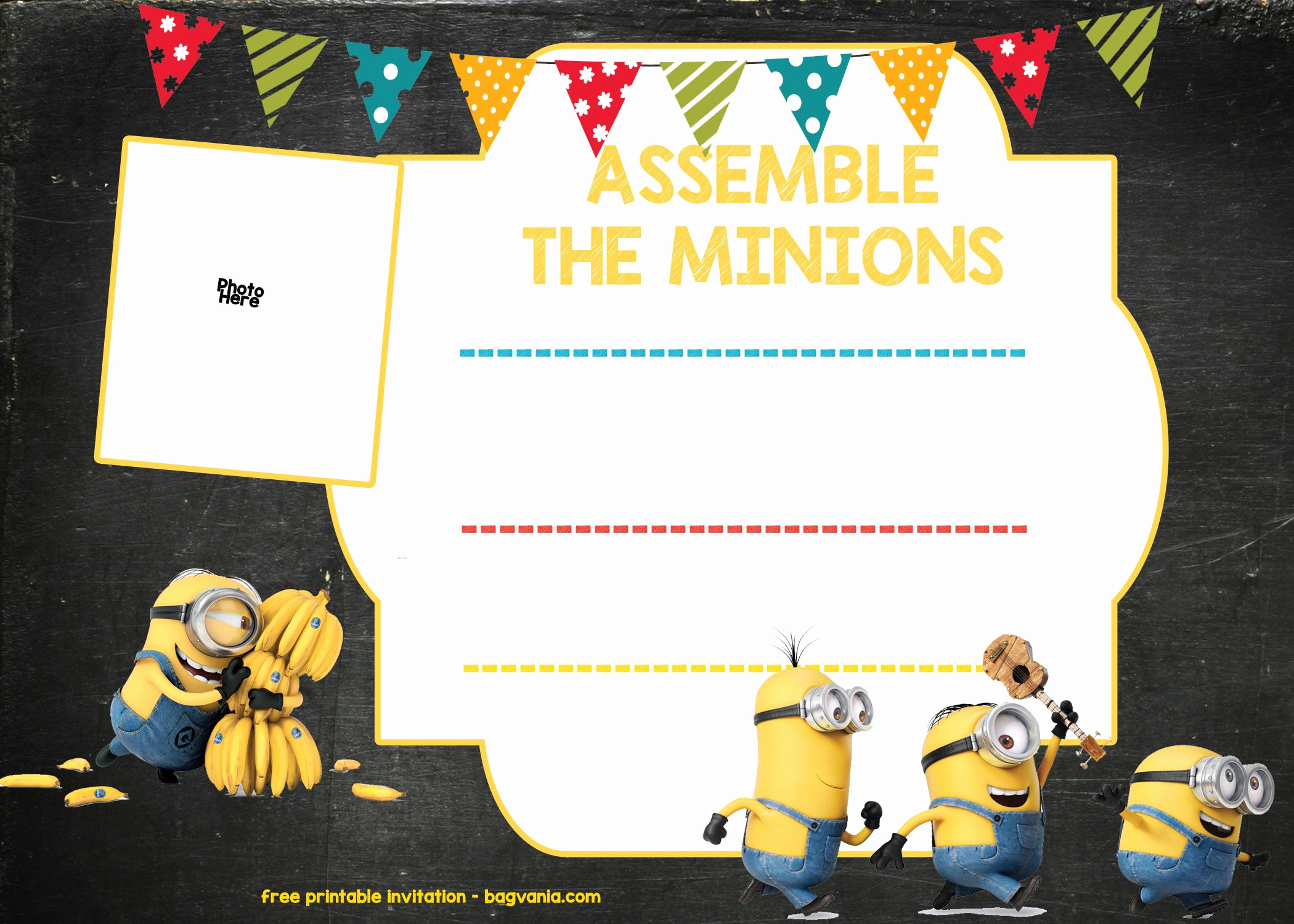 Free Minion Invitation Template Luxury Download Minion Birthday Invitation Template Free