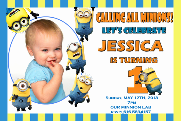 Free Minion Invitation Template New Despicable Me 2 Birthday Invitations Minions Party
