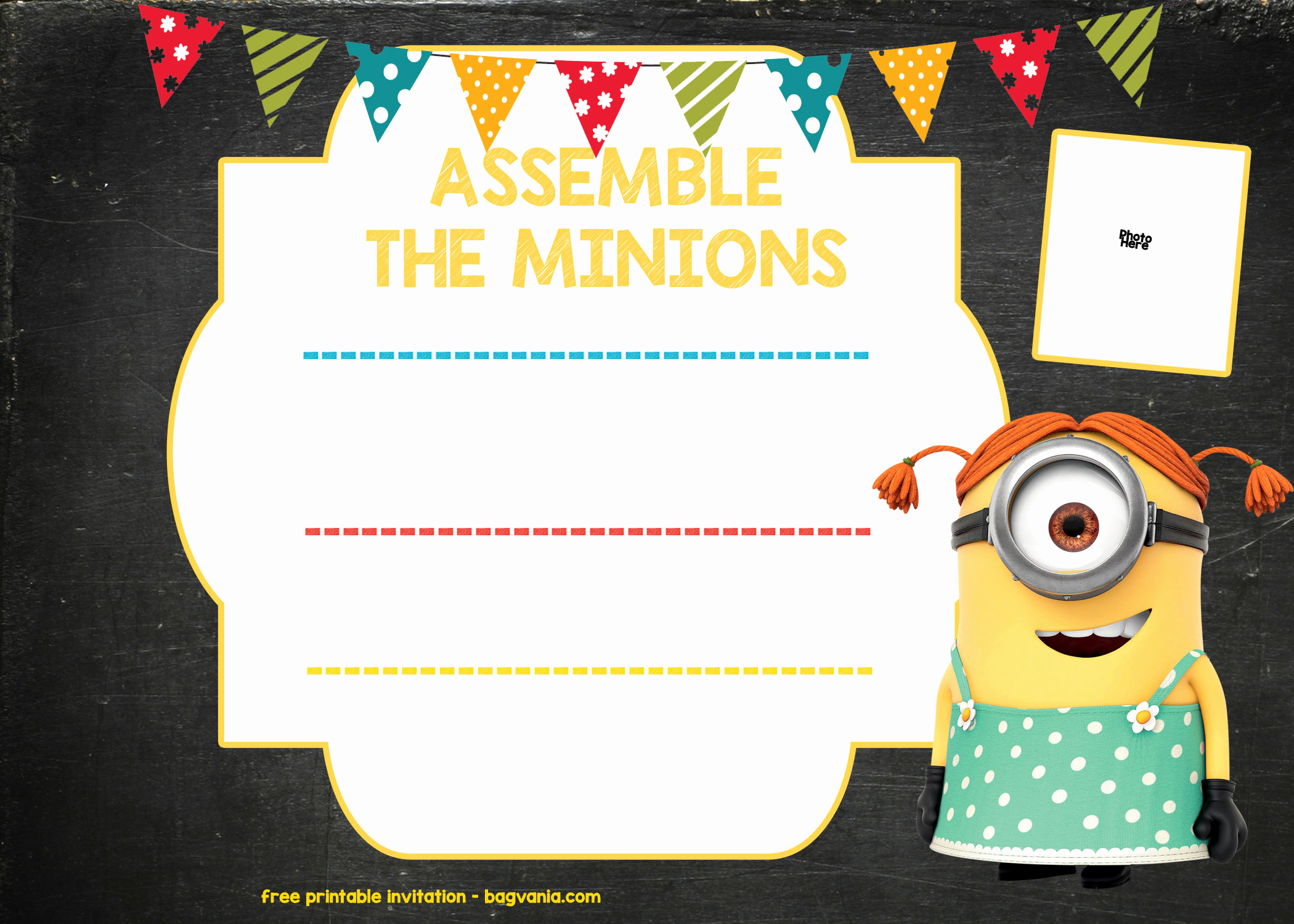 Free Minion Invitation Template Unique Minion Birthday Invitation Template – Free Download – Free