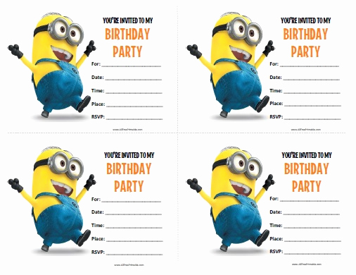 Free Minion Invitation Templates Awesome 40th Birthday Ideas Minion Birthday Invitations Templates