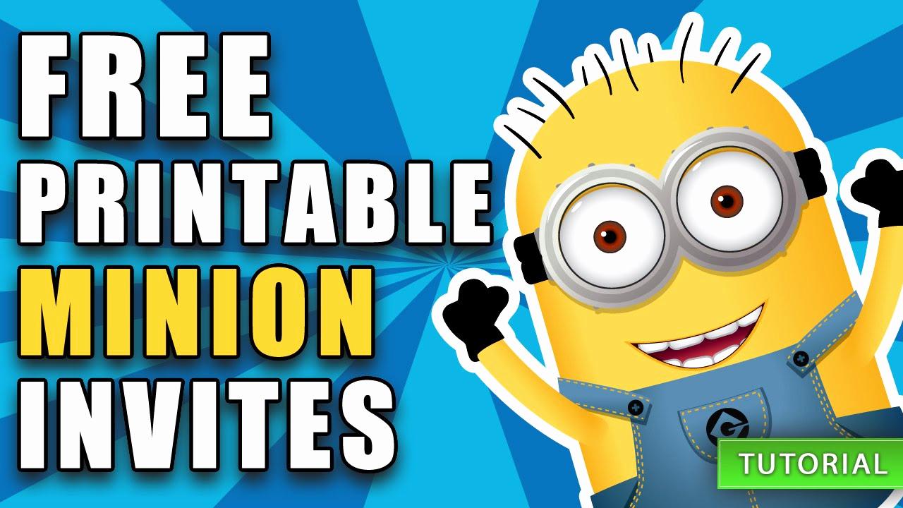 Free Minion Invitation Templates Awesome Diy Free Printable Minion Birthday Invite How to Video