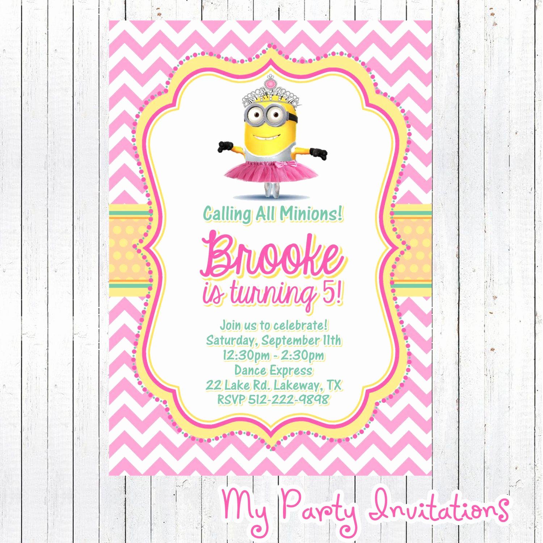 Free Minion Invitation Templates Best Of Minion Invitations for Girls Google Search