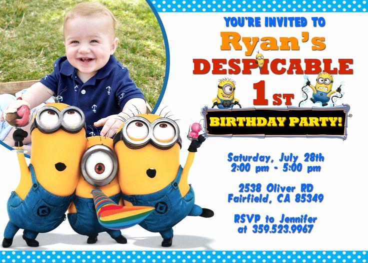 Free Minion Invitation Templates Unique 25 Best Ideas About Minion Birthday Invitations On