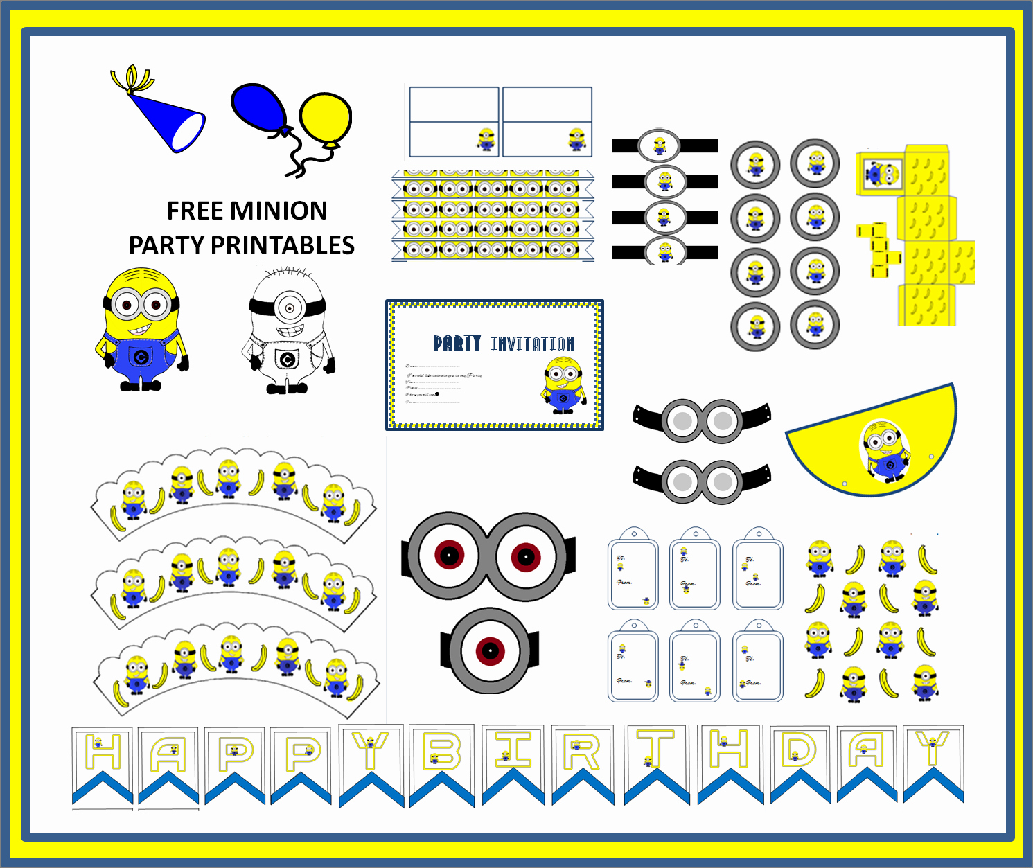 Free Minion Invitation Templates Unique Free Minion Party Printables Craft Ideas