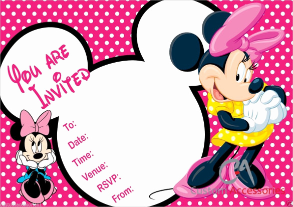 Free Minnie Mouse Invitation Maker Awesome 32 Superb Minnie Mouse Birthday Invitations