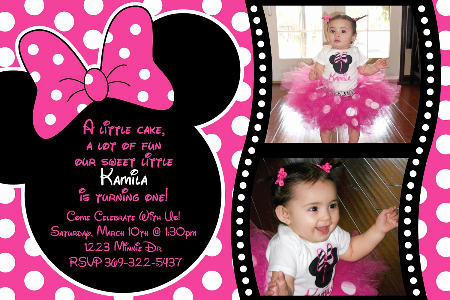 Free Minnie Mouse Invitation Maker Awesome Free Minnie Mouse Birthday Invitations
