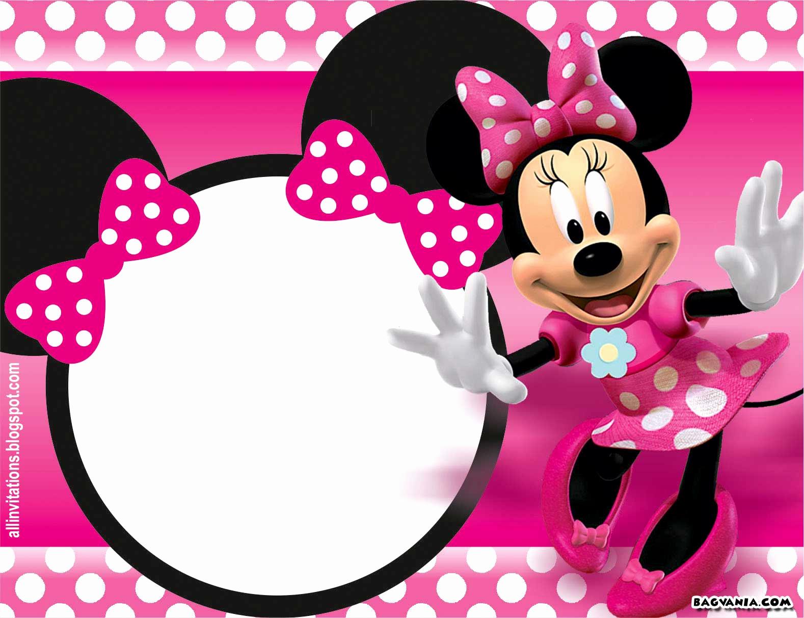 Free Minnie Mouse Invitation Maker Beautiful Free Printable Minnie Mouse Birthday Invitations – Free