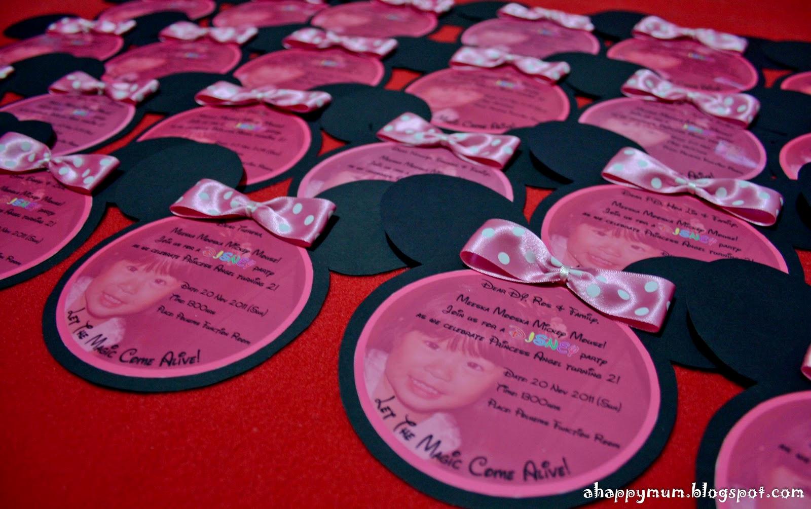 Free Minnie Mouse Invitation Maker Elegant A Happy Mum