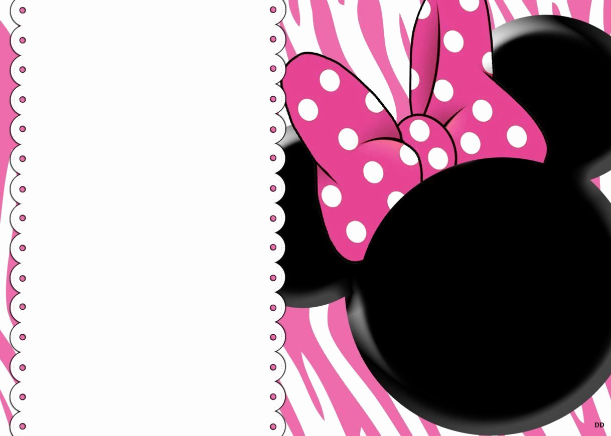 Free Minnie Mouse Invitation Maker Inspirational Free Blank Invites Minnie Mouse Party