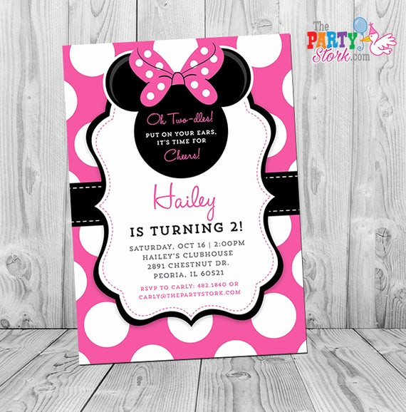 Free Minnie Mouse Invitation Maker Lovely Minnie Invitation Minnie Mouse Party Minnie Mouse Invite